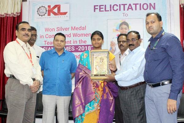 Felicitation to Arjuna Awardee Ms.Vennam Jyothi Surekha