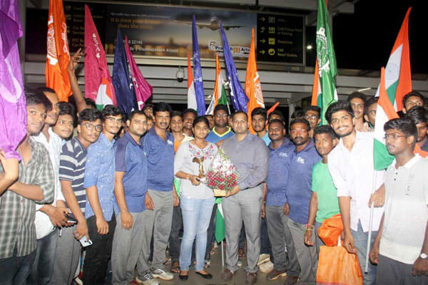 Arjuna Awardee Ms. Vennam Jyothi Surekha bagged Silver Medal for Mixed Team Event