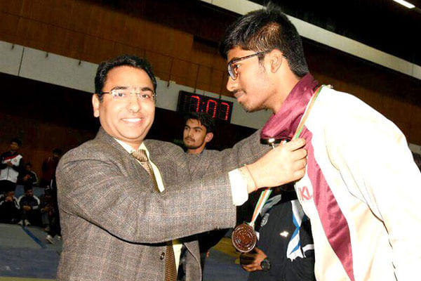 Bronze medal in the - All India Inter-University Wushu Championship