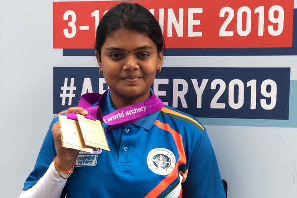 Arjuna Awardee Ms. Vennam Jyothi Surekha bagged Two Bronze Medals