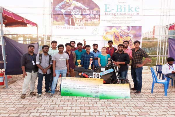 E-Bike Racing Championship won by Team Gavisti of K L Deemed to be University
