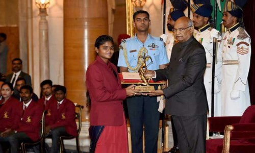 Hearty Congratulations to Ms. V Jyothi Surekha Arjuna Awardee