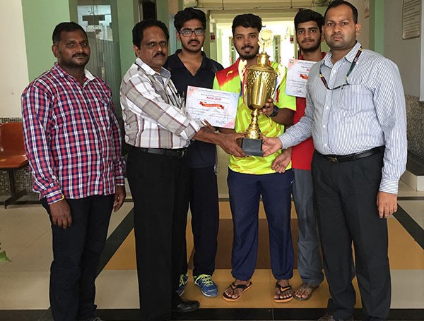 Ch. Chaitanya Badminton Men Team Secured 1st Place