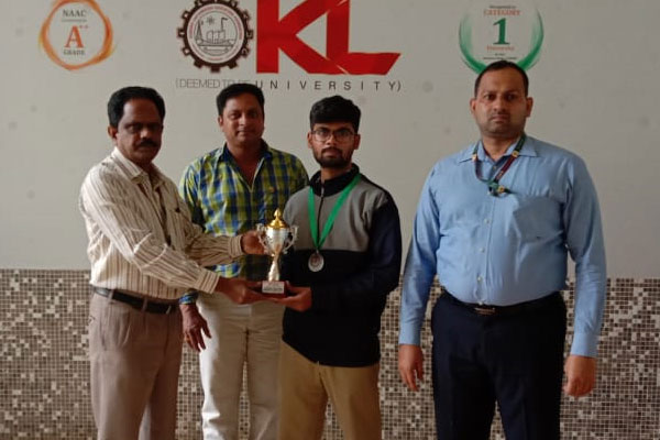 Appreciation to Table Tennis (Men) Team Secured Gold Medal in GUSTO 2K19-20-GITAM National Sports Fest organized by Gitam University held at Hyderabad from 27.12.19 to 28.12.19.