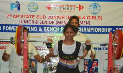 Shaik Sadiya Almas (Regd No: 2000590047-BA-IAS) Secured 3 Gold medals in A.P State Inter District Sub-Junior, Junior, and Senior  (Men and Women) Power Lifting  and Bench press Championship held at Sattenapalli, Guntur on 9-01-2021 and 10-01-2021.