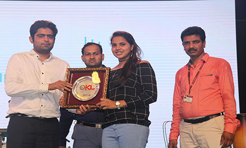 Appreciation Momento to A.Greethika, Table Tennis Player by Honourable Dignitaries, Surbhi 2018